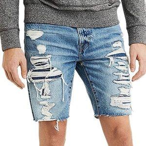 American Eagle Cutoff Denim Shorts in Medium Rinse